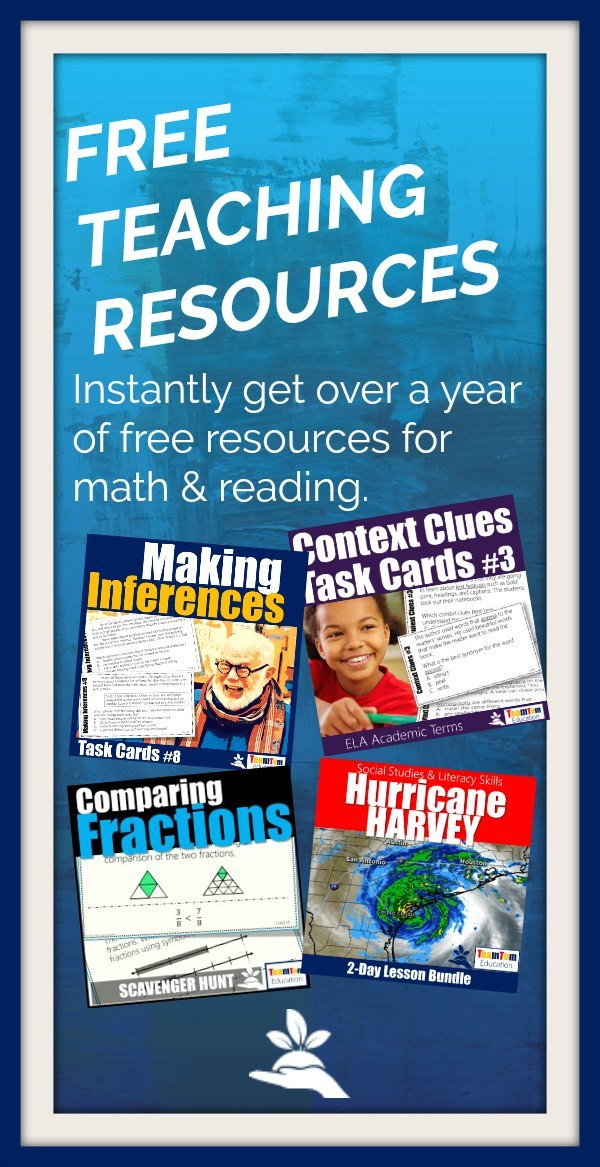 (Free) Monthly Teaching Resources | TeamTom Teachers. Join thousands of other teachers who get free teaching resources and discover fresh ideas each month!