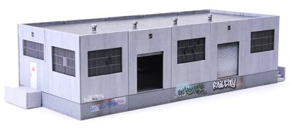 warehouse paper model building kit railroad