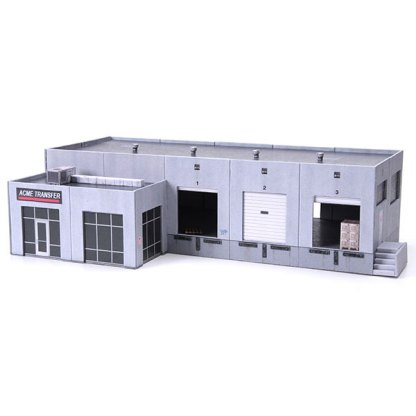 warehouse paper model building kit railroad