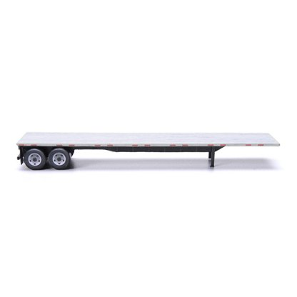 flatbed trailer paper model kit aluminum gray railroad