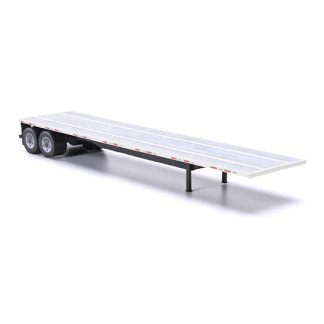 flatbed trailer paper model kit white railroad