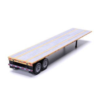 flatbed trailer paper model kit yellow railroad