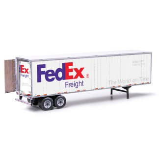 semi-trailer fedex paper model kit railroad
