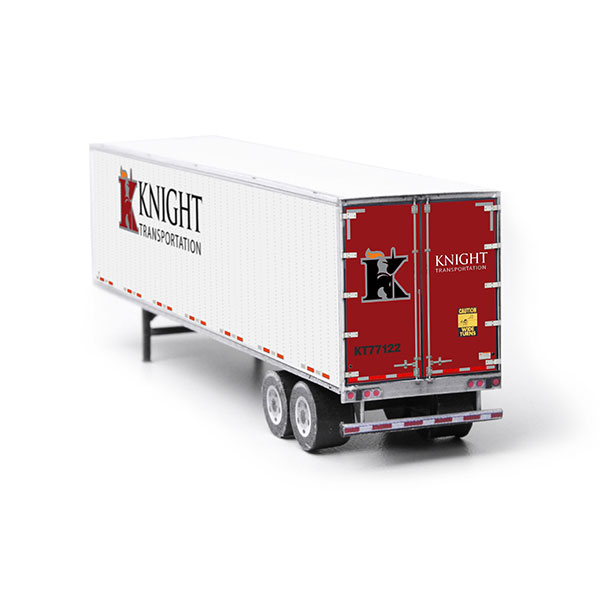 Semi-Trailer Knight Transportation Paper Model Kit