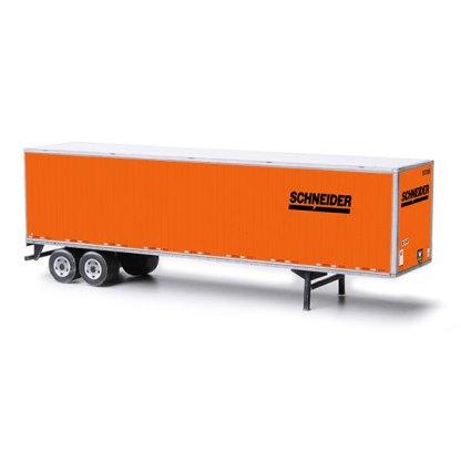 semi-trailer schneider paper model kit railroad