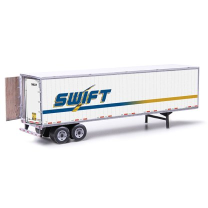 semi-trailer swift paper model kit railroad