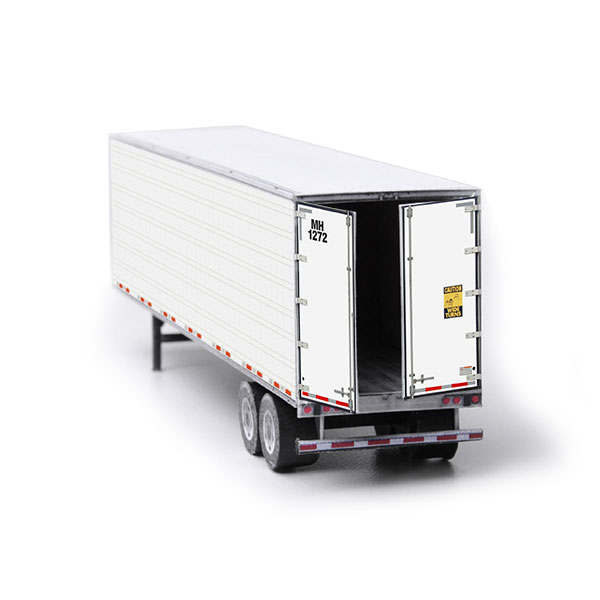 Semi-Trailer Undecorated Paper Model Kit