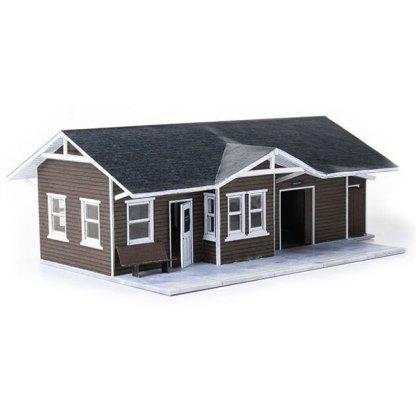 train depot brown paper model building railroad