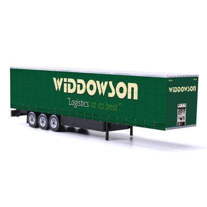 euroliner trailer paper model kit widdowson