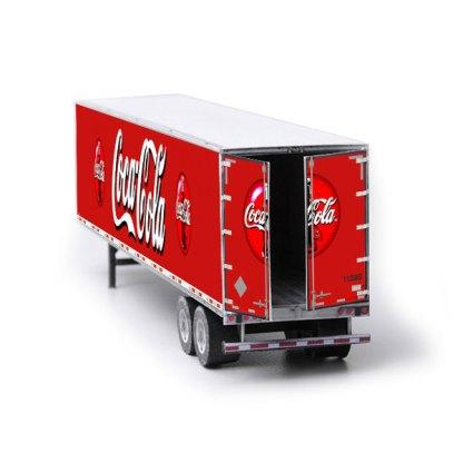 semi-trailer paper model kit coca-cola