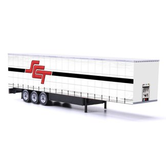 sct logistics card model euroliner trailer