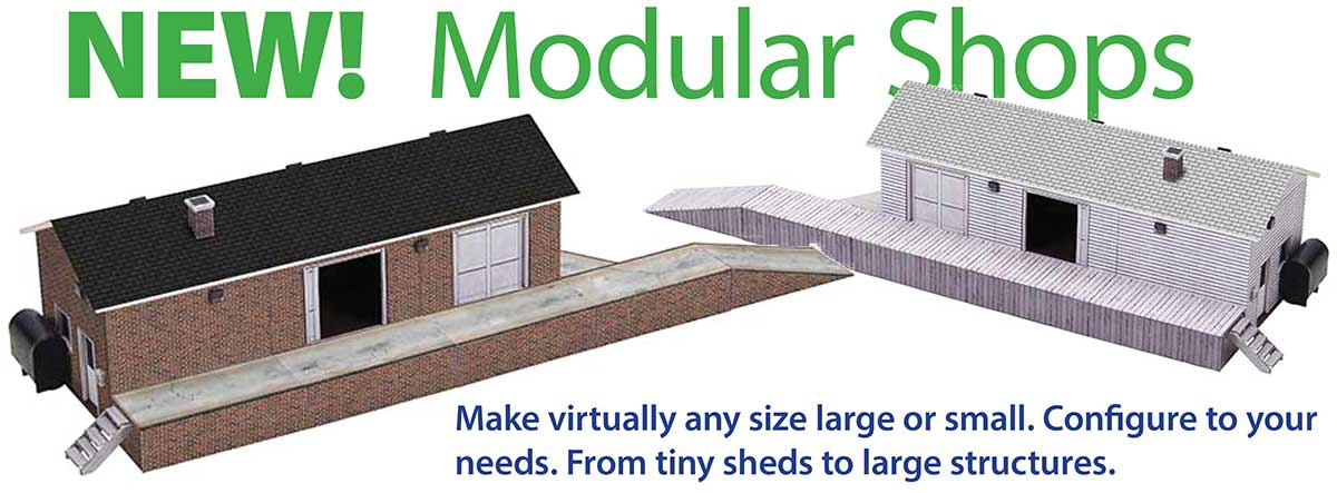 graphic regarding Ho Scale Buildings Free Printable Plans known as Downloadable Paper Type Kits for Scale Railroad Structures