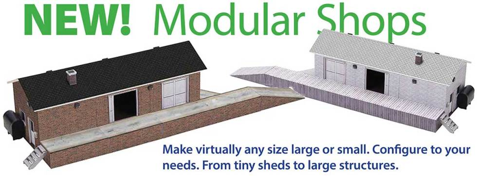 Downloadable Paper Model Kits for Scale Railroad Buildings