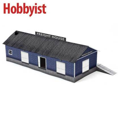 Freight House in Blue Lapboard