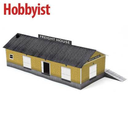 Freight House in Yellow Lapboard