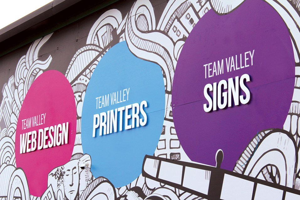 Team Valley Group Sign