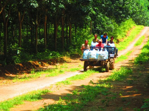 A small group of rubber farmers set us on the right path