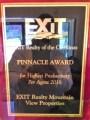 Exit Wins Highest Producer AGAIN!