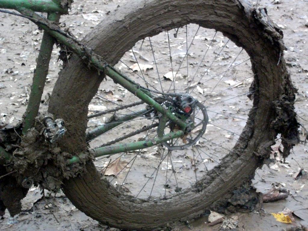 Mud Covered Wheel