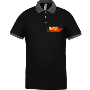 Polo noir ZS - recto