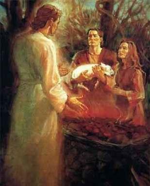 Adán y Eva y el cono de luz pasado