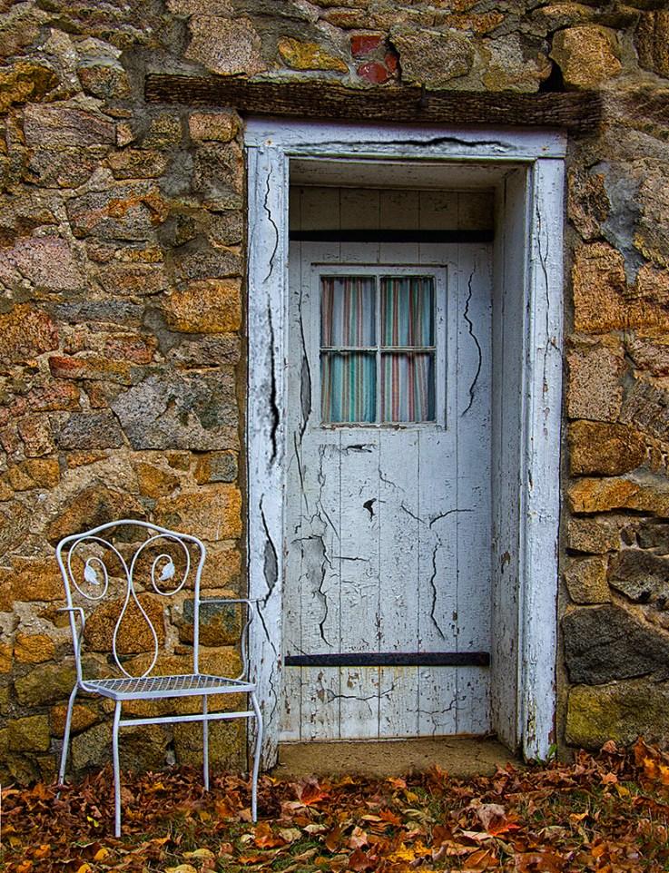 Grungy doorway