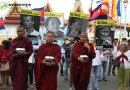 Monks, Land activists, youth and CSOs garthered in front of the National Assembly