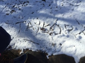 Wrote my name in the snow on the hike