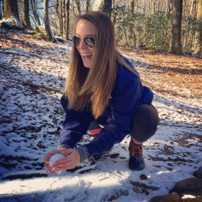 First snowball on the hike