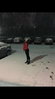 Catching falling snow