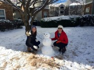 Making a snowman with Marina