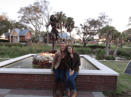 The fountain with Princess Ulele herself!