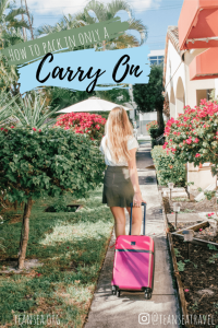 How to pack in Only a Carry on