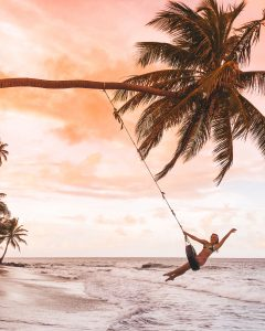 One of the best beaches in Grenada has a tire swing