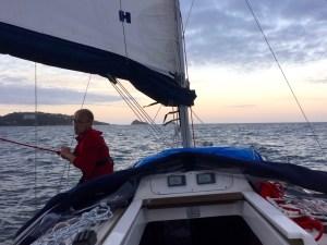 Rigging sailing boat preventer