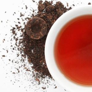 Birds Nest Loose Leaf Puerh Tea brewed tea