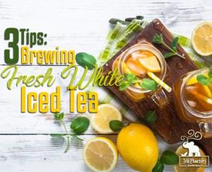 Brewing Fresh White Iced Tea