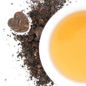 Dark Hearts Puerh Tea brewed tea