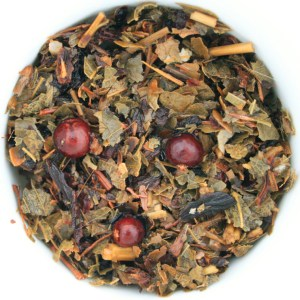 Garden Berry Medley Herbal Blend wet leaf