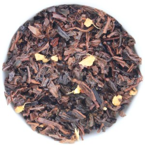 Ginger Peach Loose Leaf Black Tea wet leaf