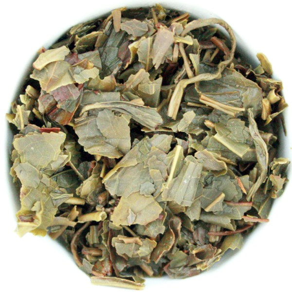 Green Loose Leaf Tea wet leaf