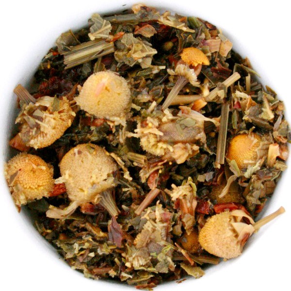 Harvest Gold Herbal Blend wet leaf