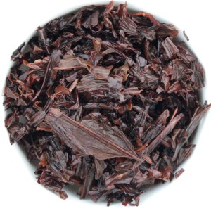 Hojicha Loose Leaf Roasted Green Tea wet leaf