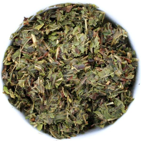 Lemon Mint Herbal Blend wet leaf