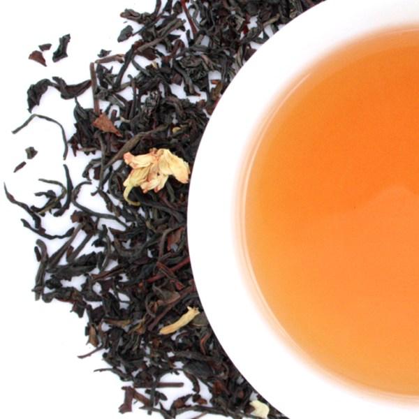 Orange Blossom Oolong Loose Leaf Tea brewed tea