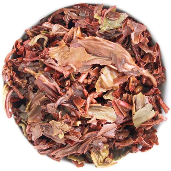 Orange Blossom Oolong Loose Leaf Tea wet leaf