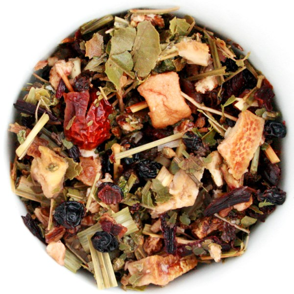 Raspberry Rush Herbal Blend wet leaf