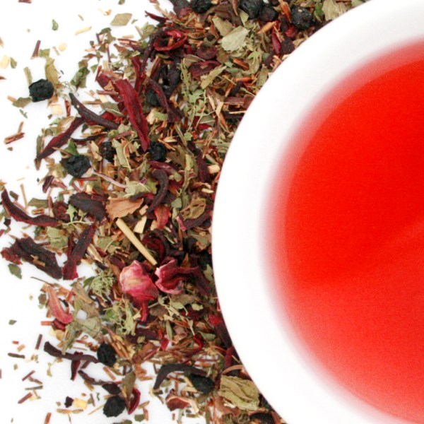 Splendiferous Rooibos Herbal Blend brewed tea