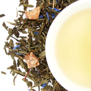 Tropical Breeze Loose Leaf Green Tea brewed tea