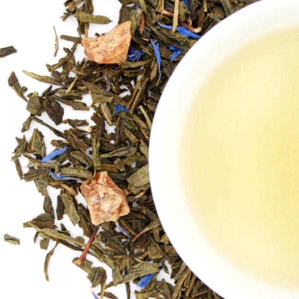 Tropical Breeze Loose Leaf Green Tea brewed tea